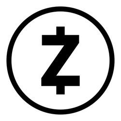zcash icon, cryptocurrency symbol logo