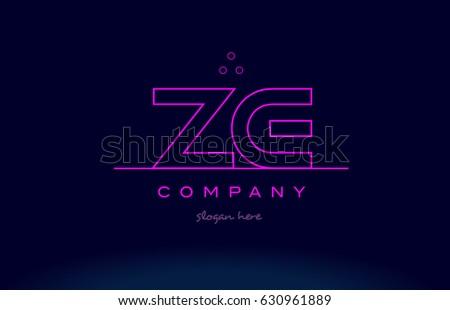 ze z e letter alphabet text pink purple dots contour line creative company logo vector icon design template Zdjęcia stock ©