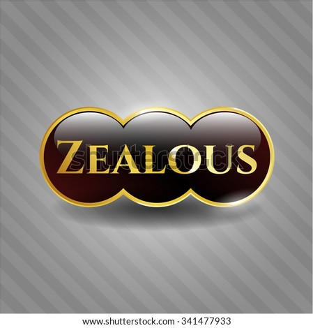 Zealous gold emblem or badge