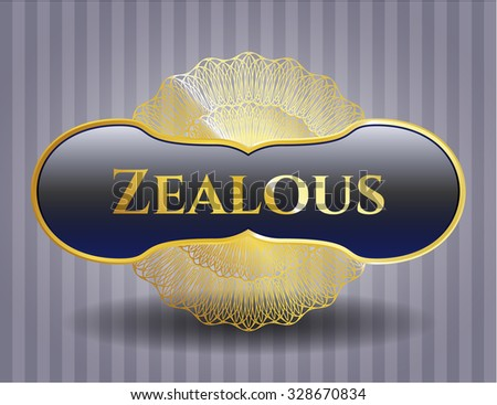 Zealous gold shiny emblem