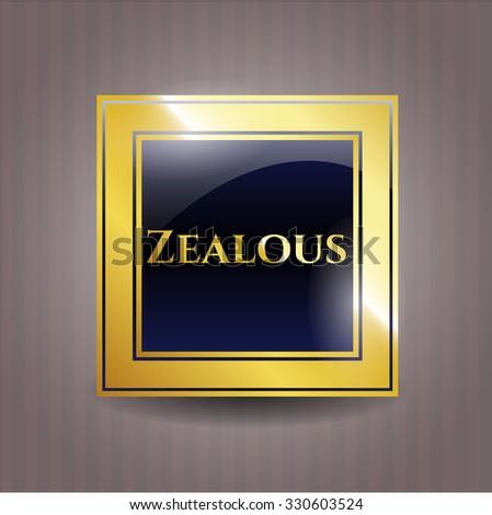 Zealous golden badge