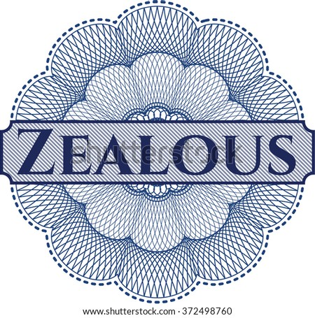 Zealous rosette or money style emblem
