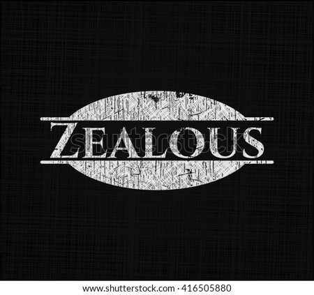 Zealous with chalkboard texture