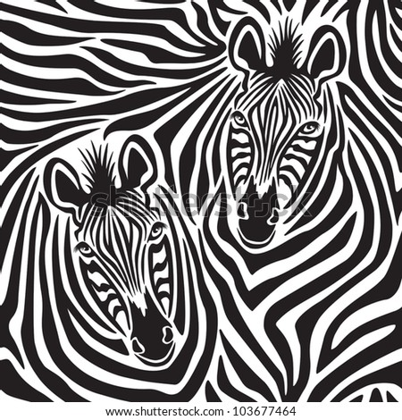 Zebra Couple repeating pattern.