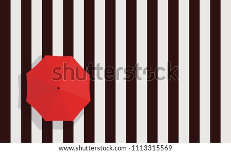Zebra Crossing Crosswalk Street And Red Umbrella Top View Pattern Template Banner Poster Texture Illustration Vector