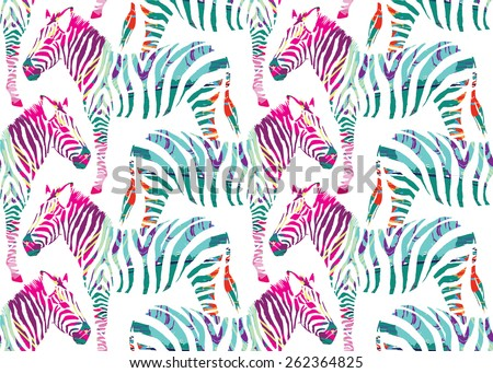 zebra painting seamless
