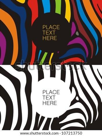 Zebra pattern color&black
