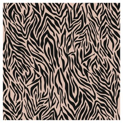 Zebra print, animal fur stripes. Abstract fabric pattern and lines background. Beige and black - Equidae family vector