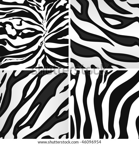 Zebra, seamless animal patterns