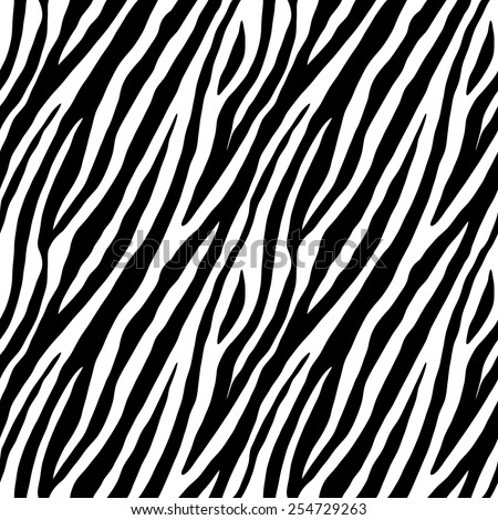 Stock Photo Zebra skin repeated seamless pattern. Black and white colors. 2x2 sample.