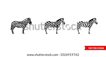 zebra symbol icon of 3 types