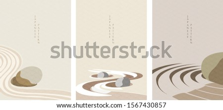 zen garden background vector