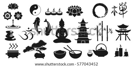 zen icons  vector illustration