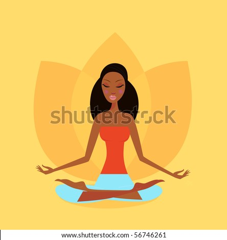 zen meditation   yoga girl in