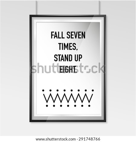 Zen poster Fall seven stand up eight