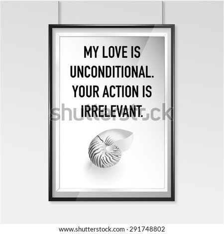 Zen poster Unconditional love