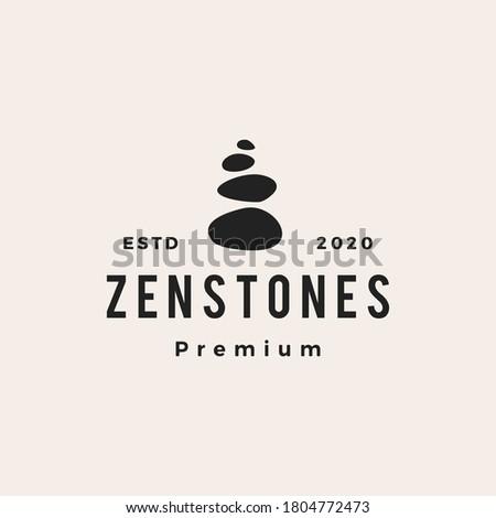 zen stones hipster vintage logo