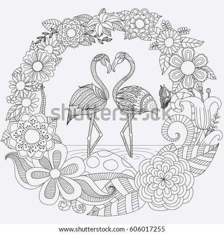 zendoodle design of two cute