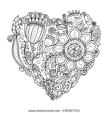 zendoodle heart consisting of