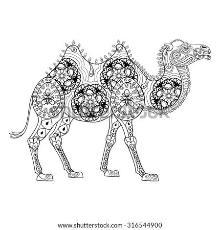 zentangle camel totem for adult