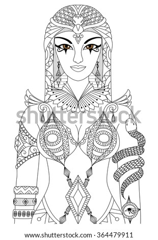 zentangle cleopatra queen of