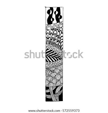 Royalty Free Zentangle Stylized Alphabet Letter U 627629060