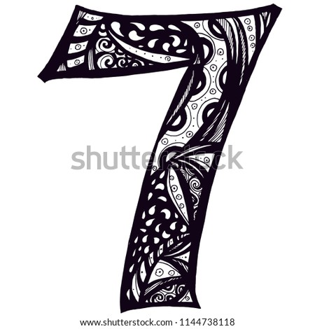 Number 7 font styles