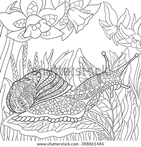 zentangle stylized cartoon