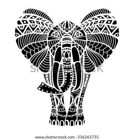 367694846 Shutterstock Elephant Head Zentangle Stylized on modern technology in india