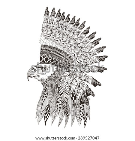 zentangle stylized head of