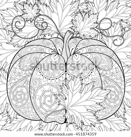 zentangle stylized pumpkin on