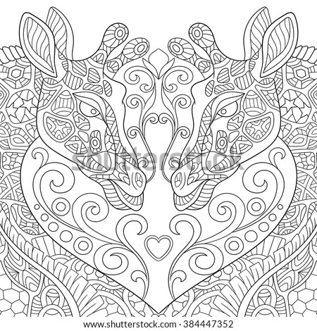 zentangle stylized two cartoon
