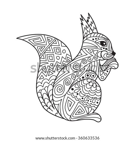 Realistic Squirrel Coloring Pages
