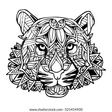 Zentangle Tiger Vector Illustration 325454900 Shutterstock