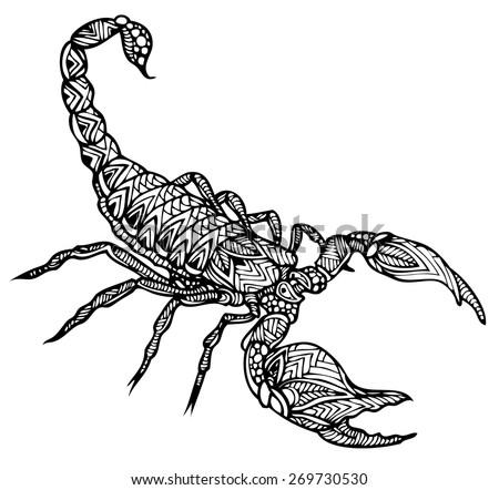 zentangle vector scorpion