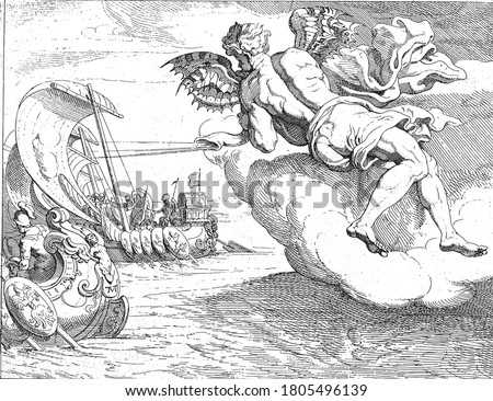 zephyrus blows odysseus 'ship