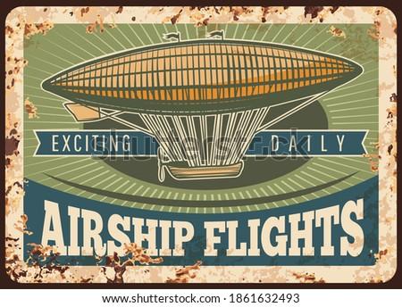 zeppelin rusty metal plate