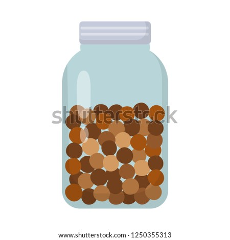 zero waste glass jar filled