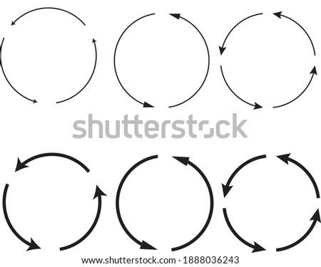 Zestaw strzałek w kołach. Circles and arrows. Zdjęcia stock ©