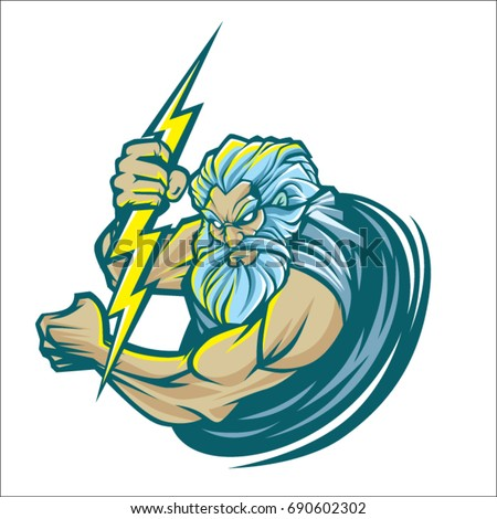 zeus logo vector isolated on white background