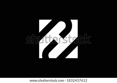 ZH letter logo design on luxury background. HZ monogram initials letter logo concept. ZH icon design. HZ elegant and Professional letter icon design on black background. H Z ZH HZ Stock fotó ©