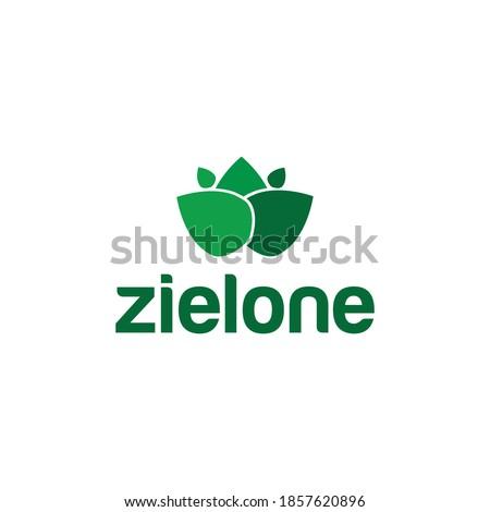 Zielone Logo Vector Natural Symbols Leaf Zdjęcia stock ©