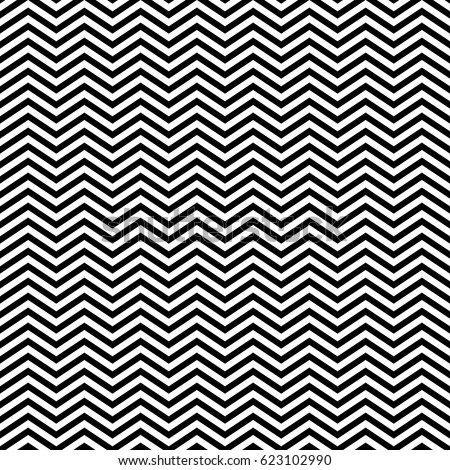 Zigzag lines. Jagged stripes. Seamless surface pattern design with triangular waves ornament. Repeated chevrons wallpaper. Digital paper for page fills, web designing, textile print. Vector art. - Shutterstock ID 623102990