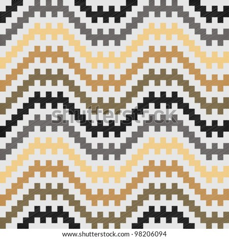 Zigzag motif traditional in brown colors