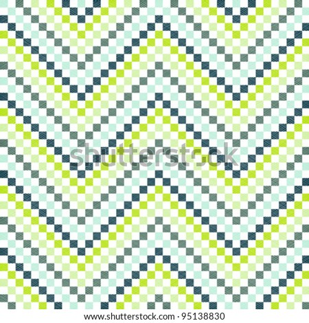 zigzag pattern in green color