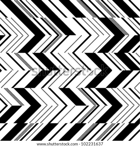 zigzag pattern in two colors