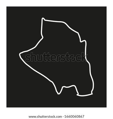 zio region map in country of togo Zdjęcia stock ©