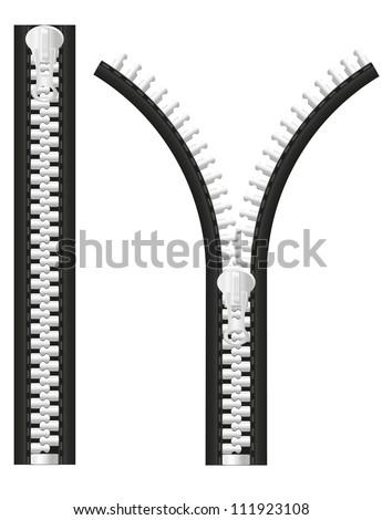 zipper vector illustration isolated on white background
