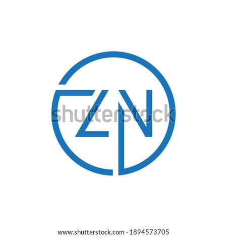 ZN Logo Design Abstract Modern Letter vector Illustration Stock fotó ©
