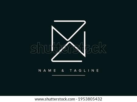 ZN or NZ Abstract initial monogram letter alphabet logo Stock fotó ©